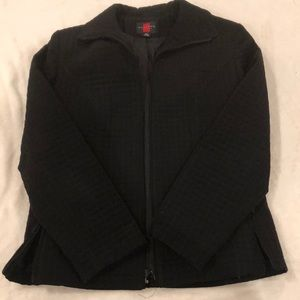 Gallery Petite Black Quilted Jacket